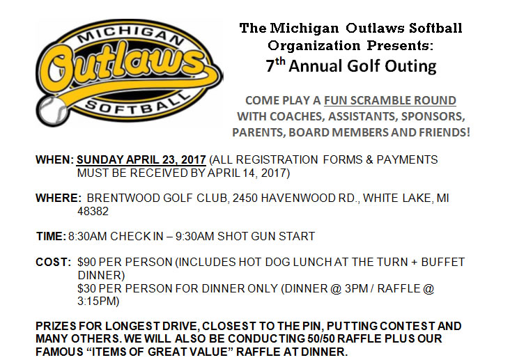 2017 Spring Golf Outing